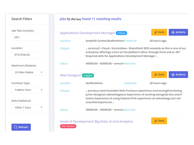 Job search by AdView